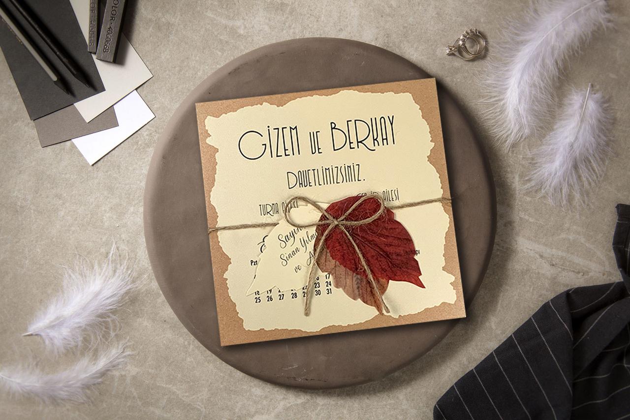 Çınar-yapraklı-düğün-davetiyesi