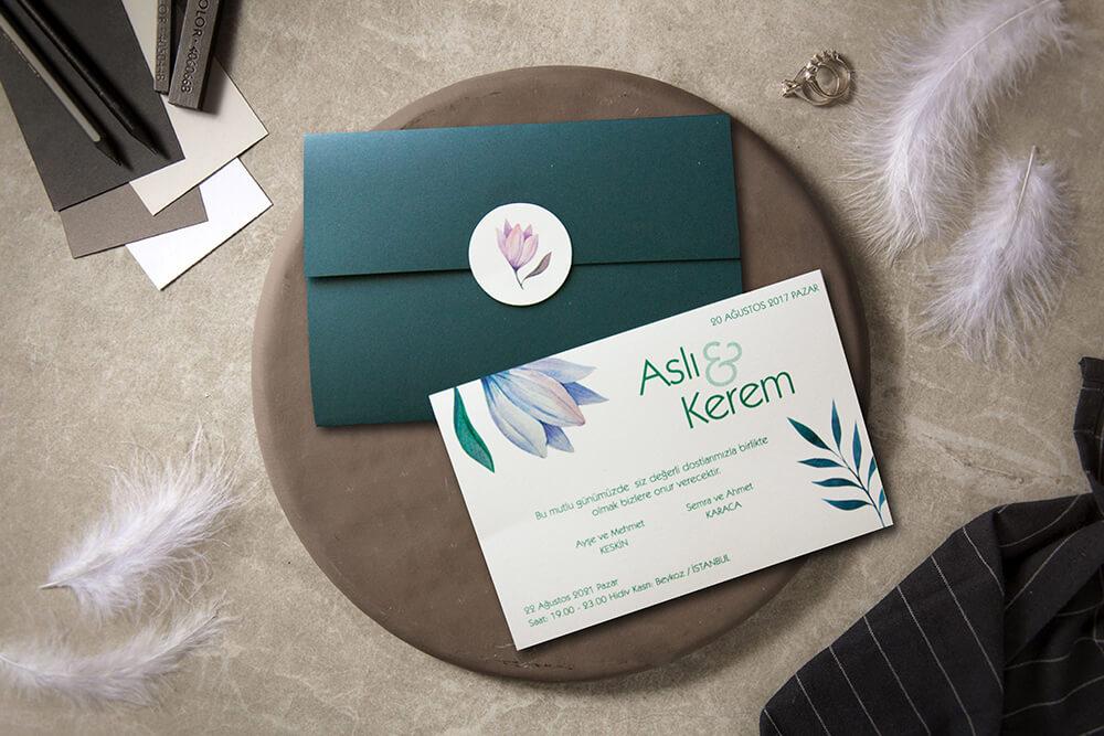 Özel tasarım davetiyeler