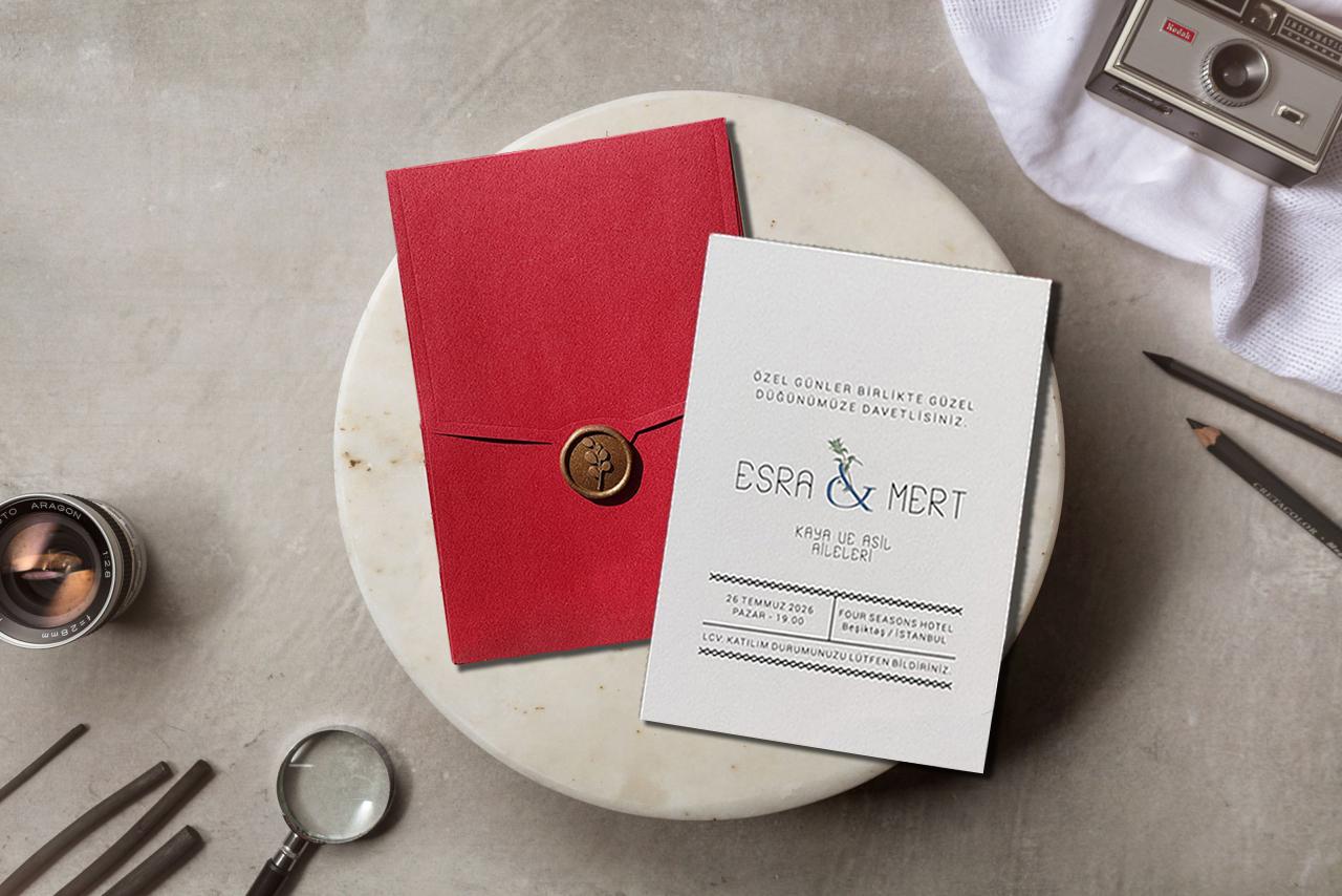 Kırmızı zarf - Mühürlü davetiye