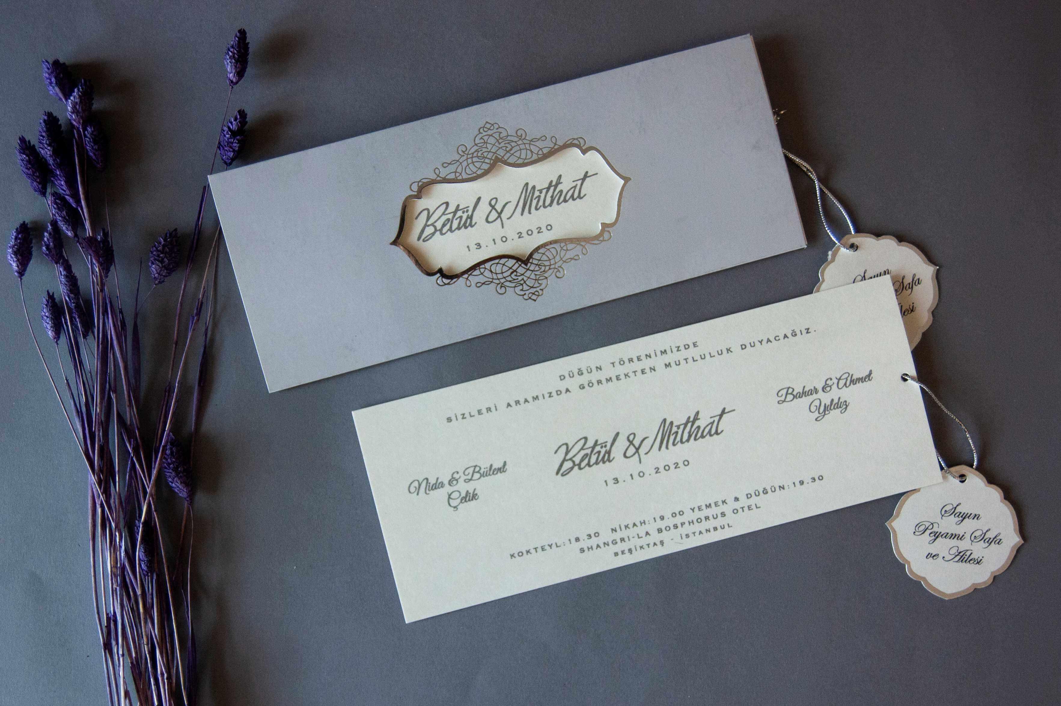 Düğün davetiyesi ve nişan