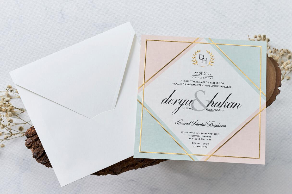 özel tasarım düğün davetiyesi