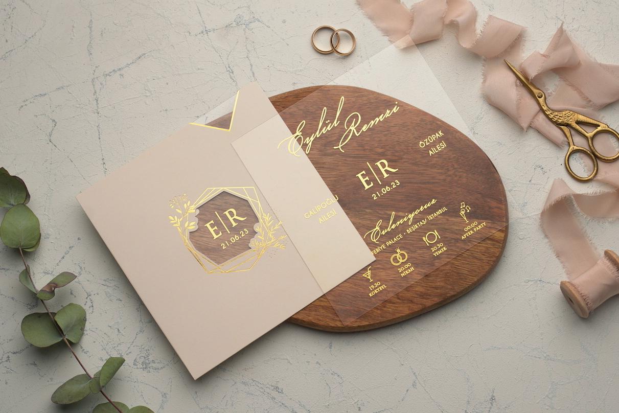 Şeffaf davetiye-Pvc davetiye