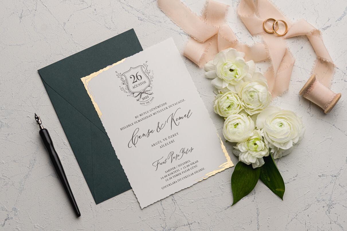Mühürlü Düğün Davetiyesi