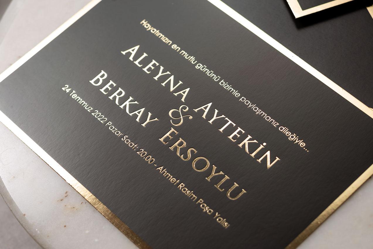 Özel tasarım davetiye-düğün davetiyesi
