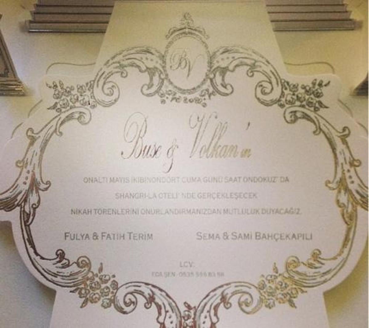 Ünlülerin düğün davetiyesi