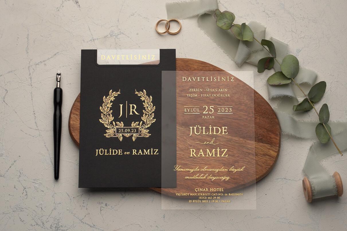 Zarfı şeffaf davetiye