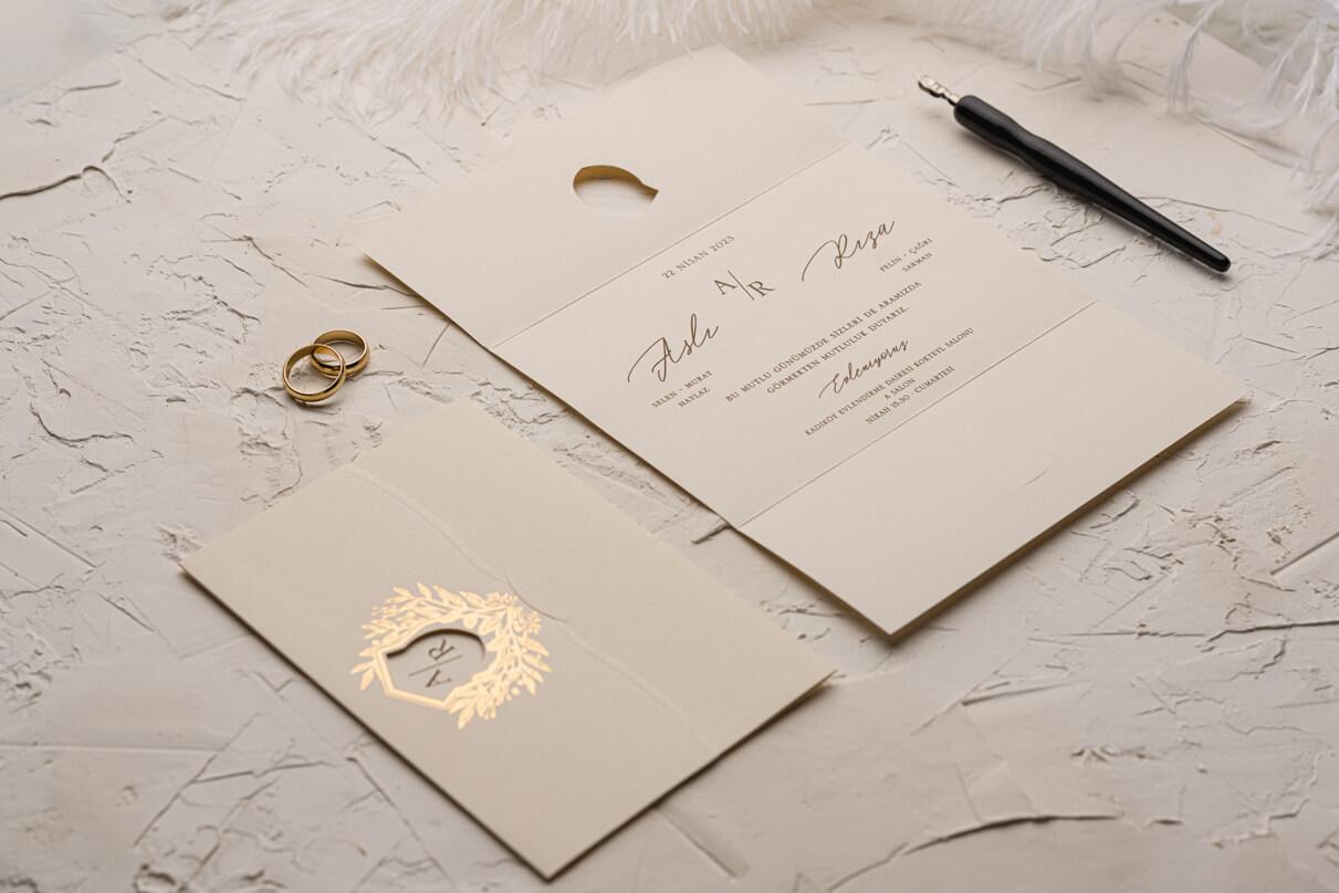 Zarif düğün davetiyeleri 9158